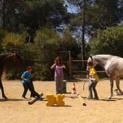 Casal educación emocional con caballos